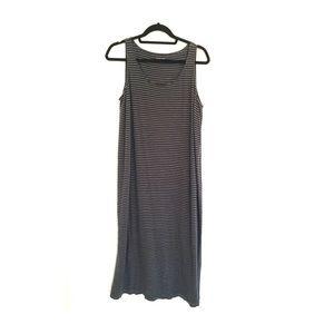 Eileen Fisher Stripe Linen Jersey Dress Maxi Dress